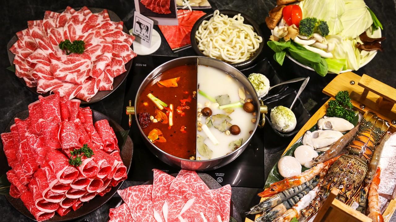 中山美食、武鶴、和牛火鍋、海陸鍋物